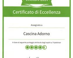 certificato tripadvisor 2014